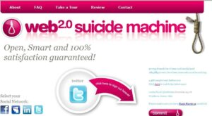 suicidemachine 300x165 Envie de commettre un suicide social en ligne ?